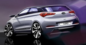 The new Hyundai i20 rear profile