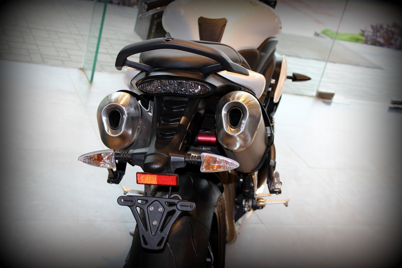 Tail lamp and number plate mount