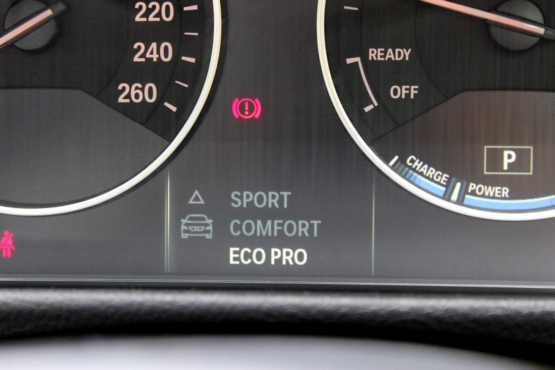 One can select from three driving modes: Eco Pro, comfort and sport