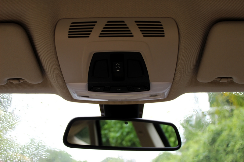 Sun-roof controls and the electrochromic rear view mirror