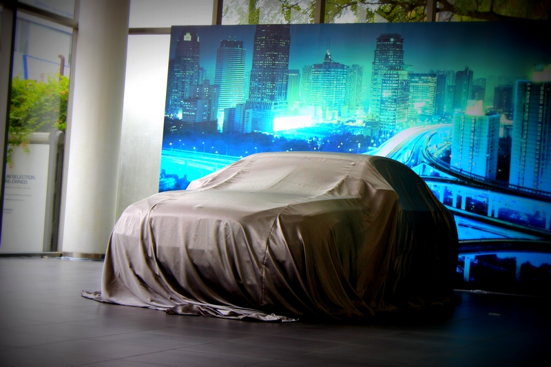 The BMW ActiveHybrid 7 under the wraps