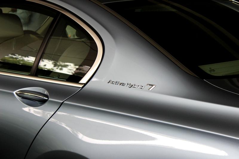 ActiveHybrid 7 badge on the rear quarter panel