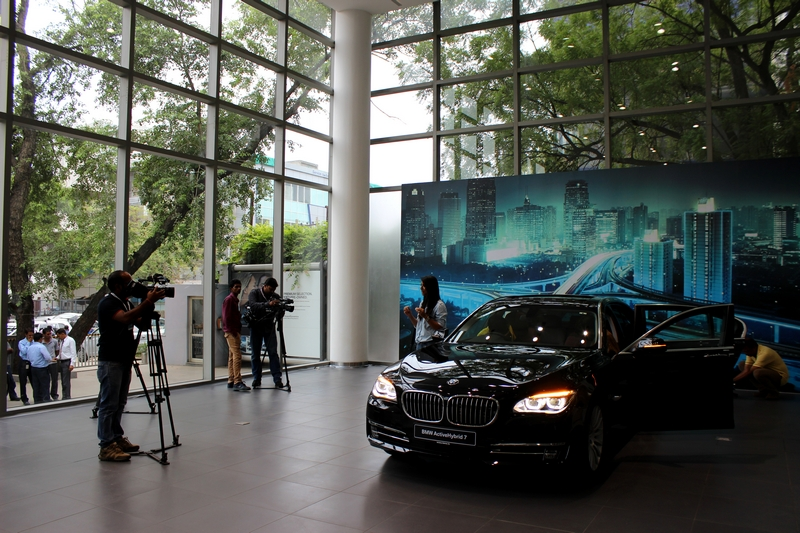 BMW ActiveHybrid 7 posing for the camera