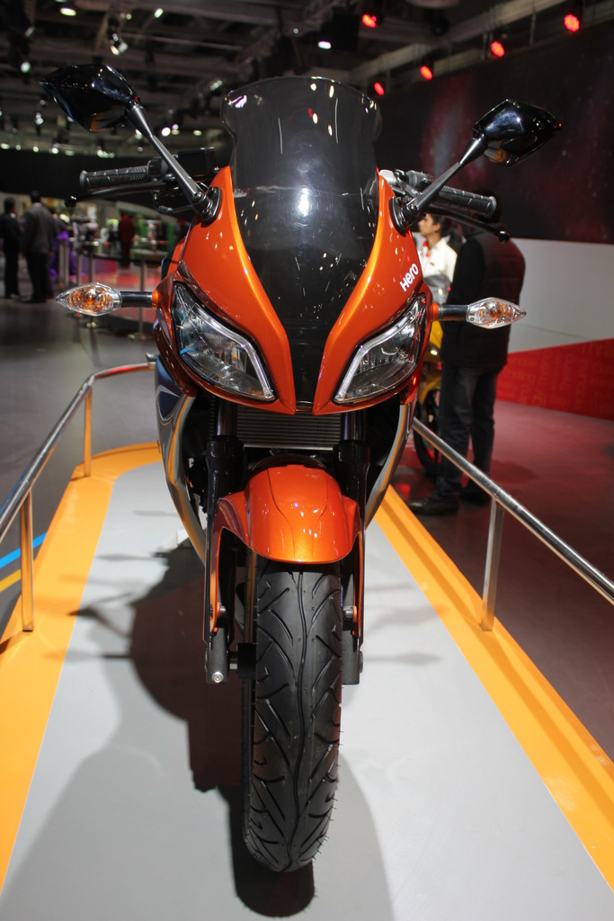 Hero HX250R dual headlamps