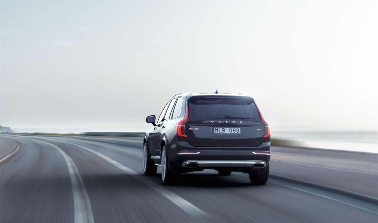 Volvo XC90 rear profile