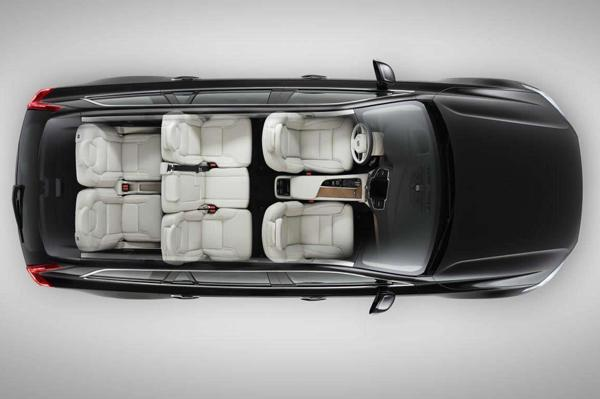 Top view of the 7 seater
