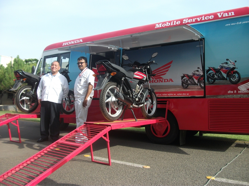 Mobile service van for Honda two wheelers