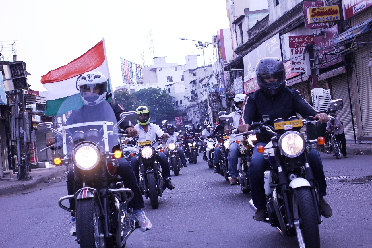 Triumph-ant owners celebrate Independence Day
