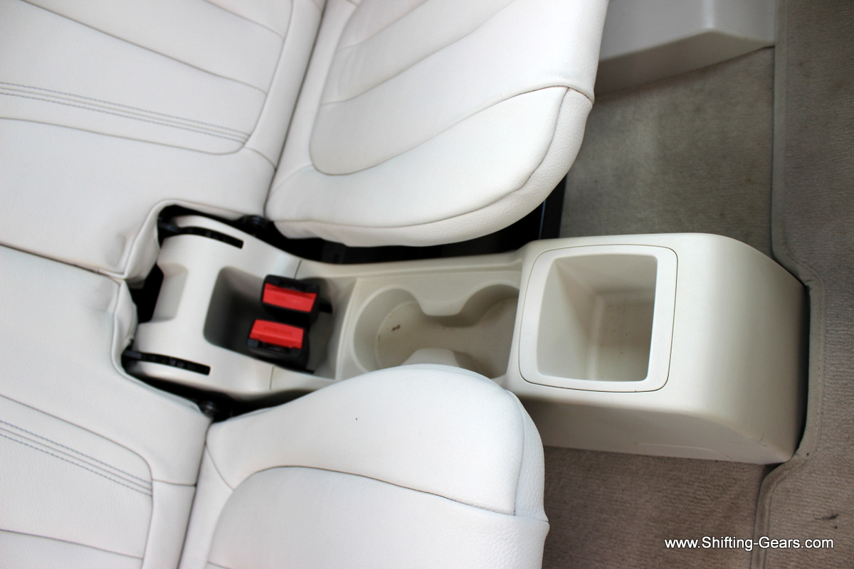 Third row passengers also get cup holders and a storage bin