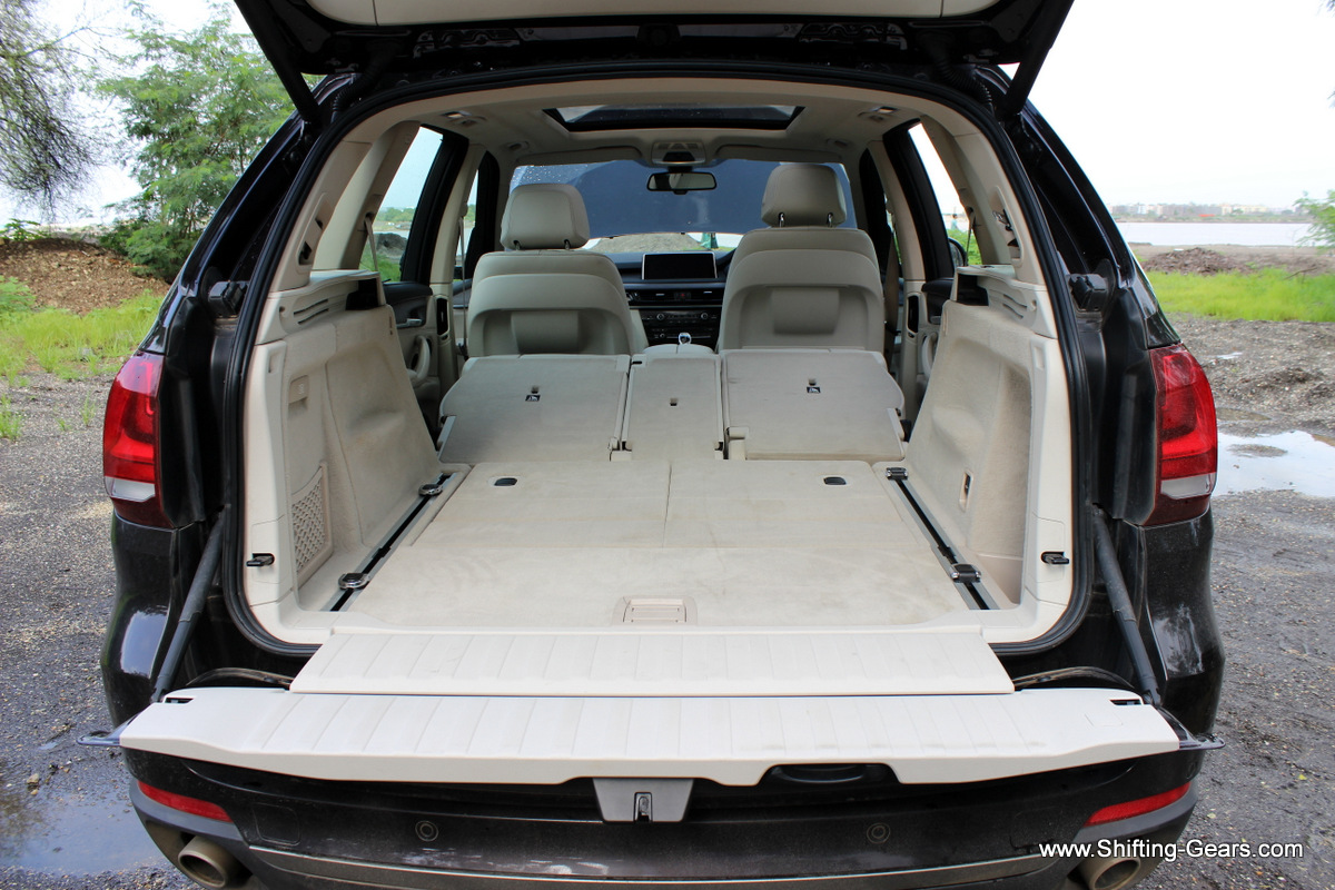 Storage capacity is huge with the second and third row seats folded away