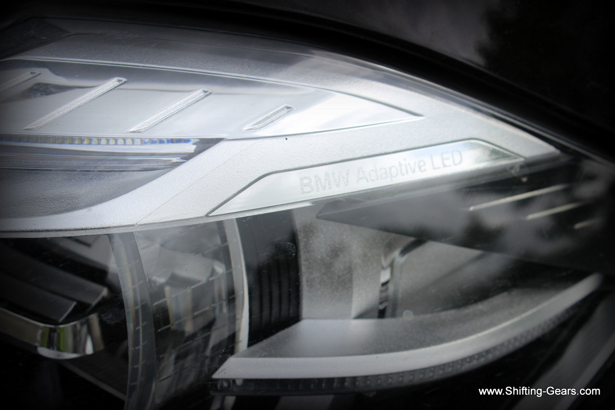 'Adaptive' etching on the headlamp