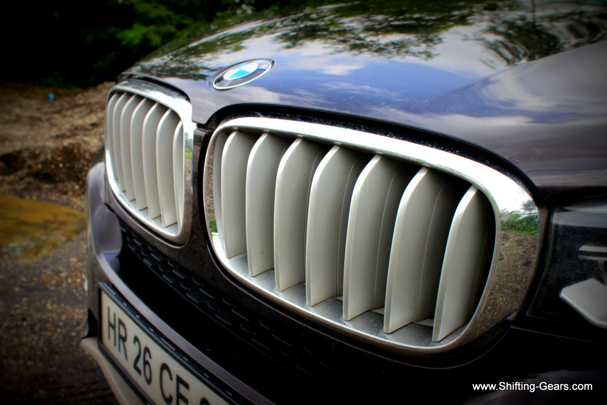 The bonnet shut line over the kidney grille does leave a noticeable amout of gap