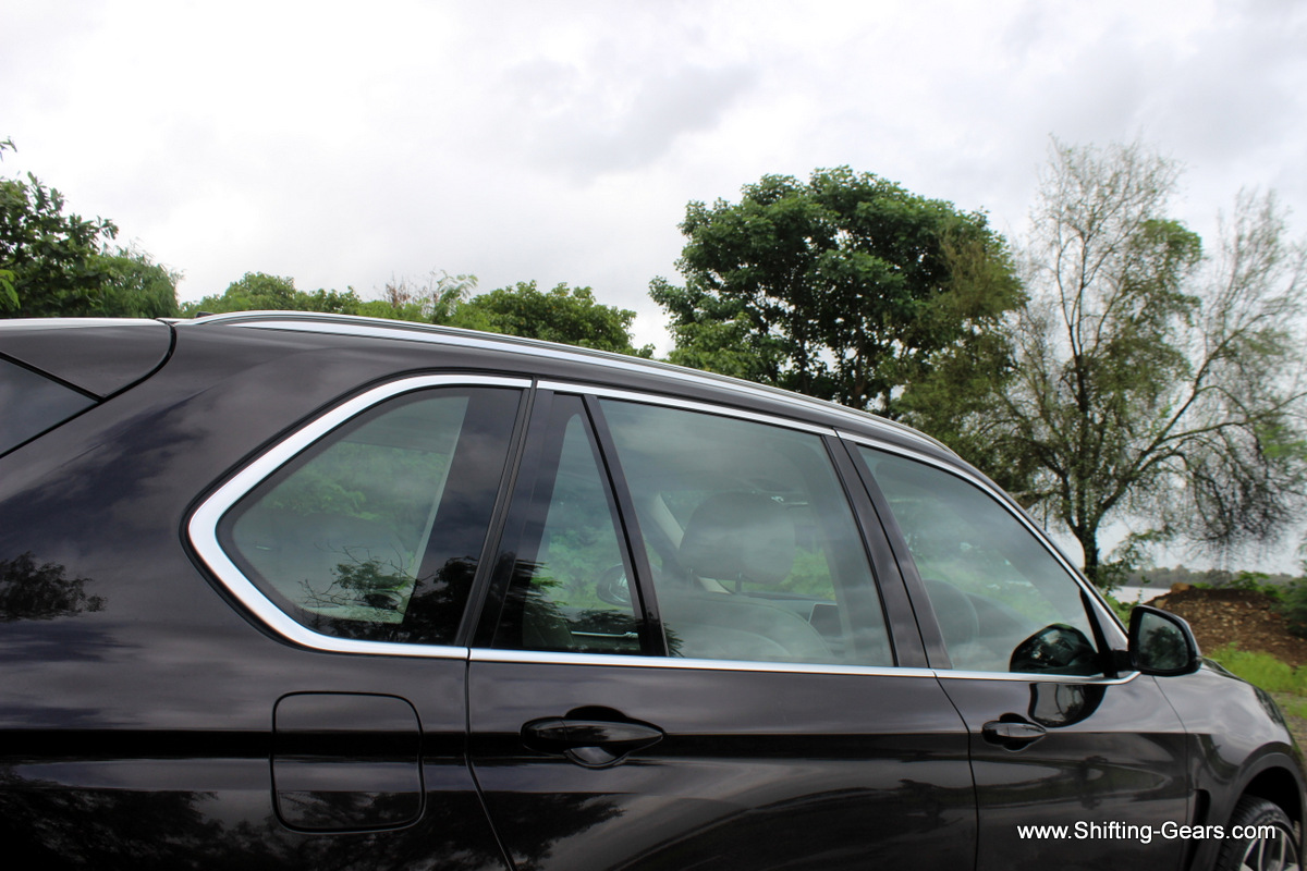 Window sills are wrapped in satinated aluminium