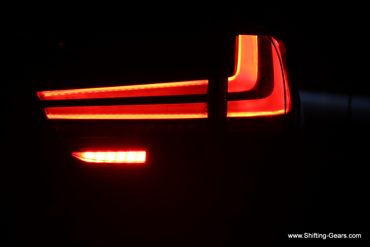 Tail lamp intensity is perfect, does not bother the cars following the big X