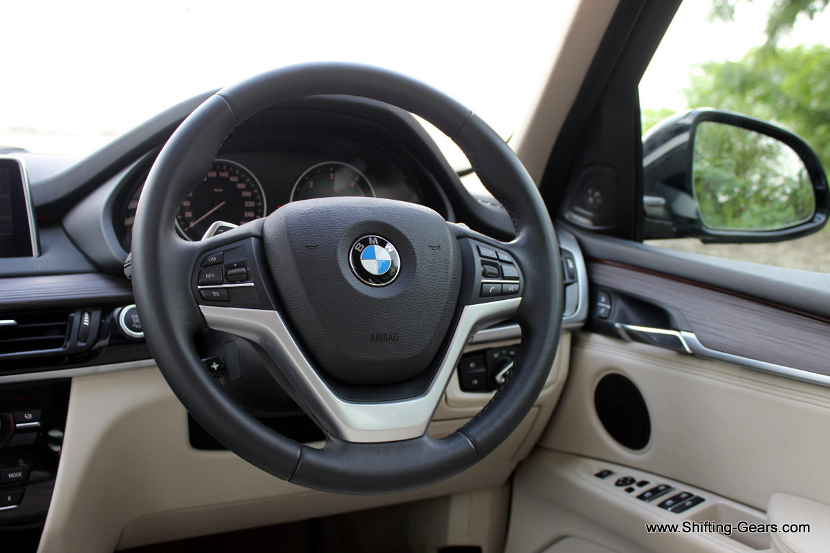 Multifunction steering wheel wrapped in sport leather