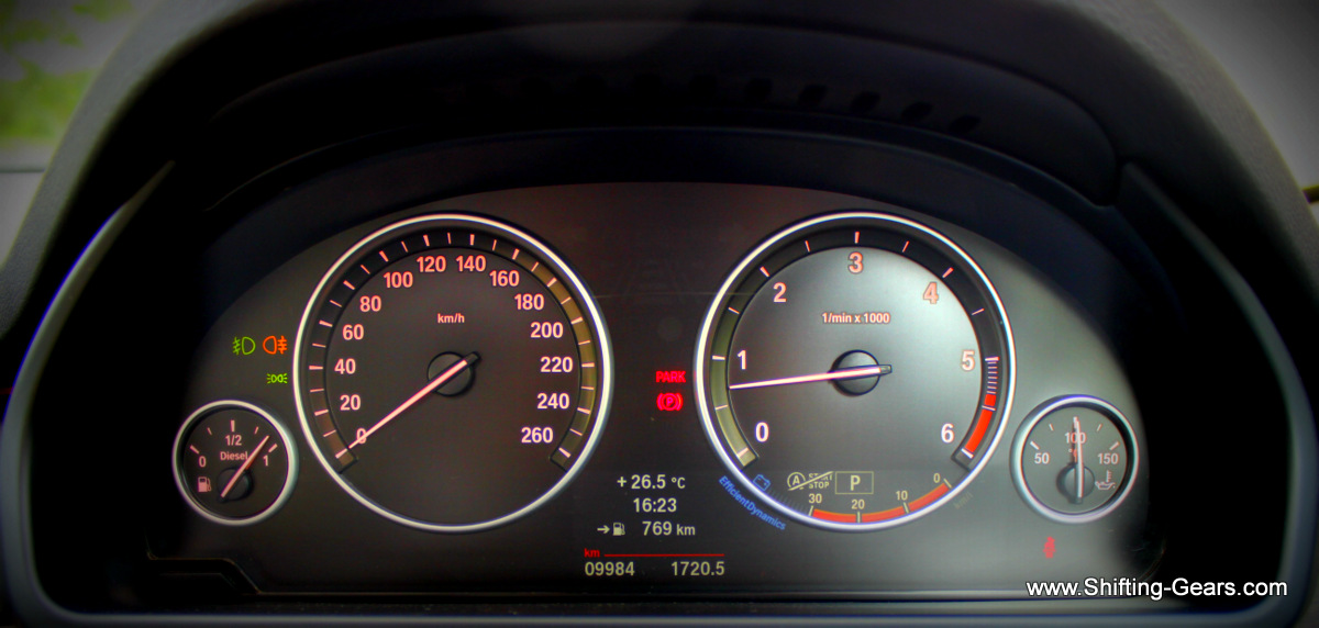 Instrument cluster looks clean, nothing jazzy or fancy here