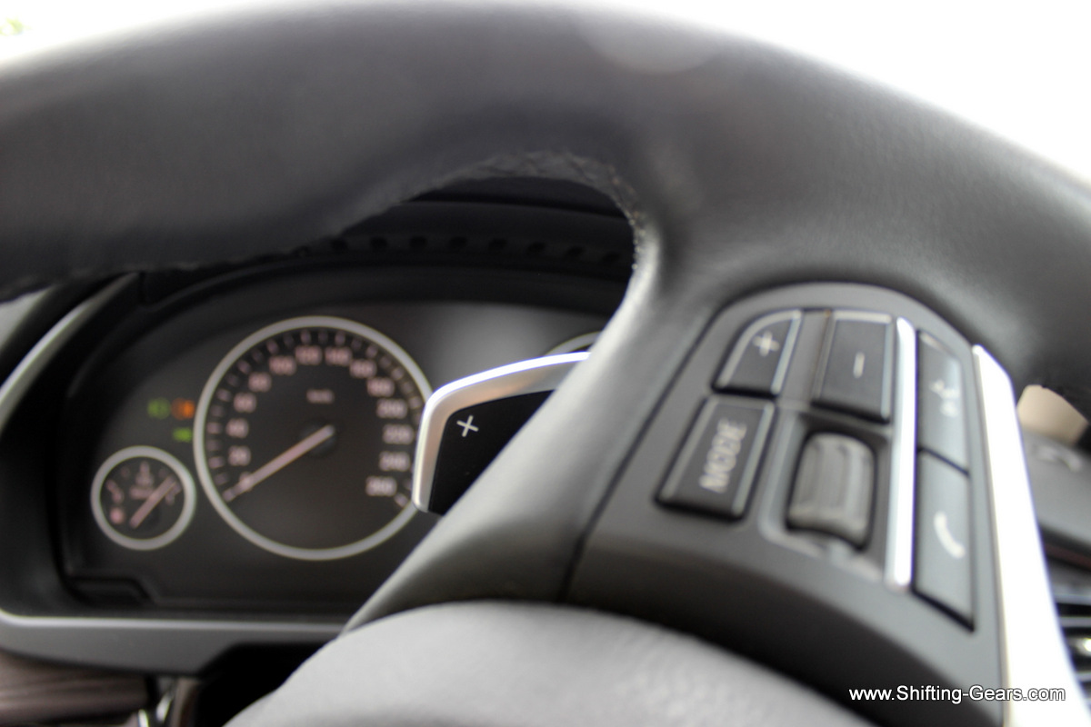 The X5 gets paddle shifts for times when you feel slightly enthusiastic