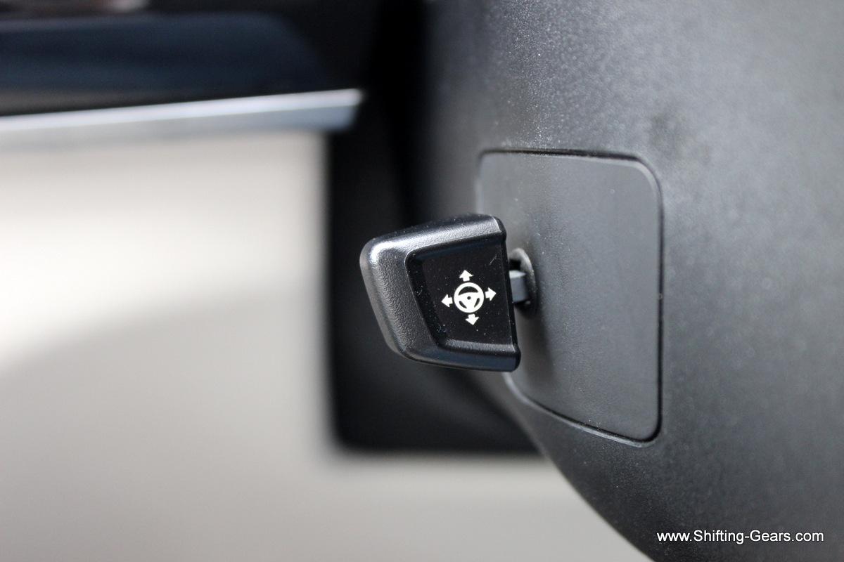 Steering wheel rake and reach is electrically adjustable