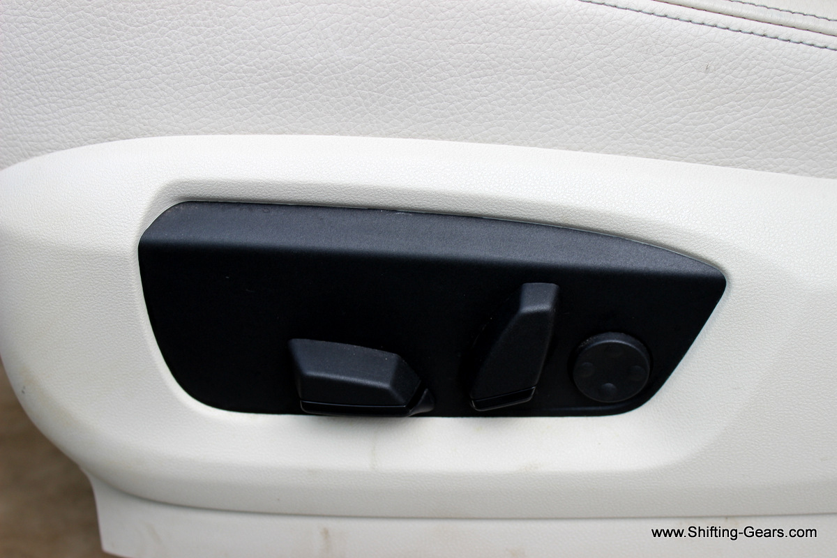A look at the passenger seat electric controls