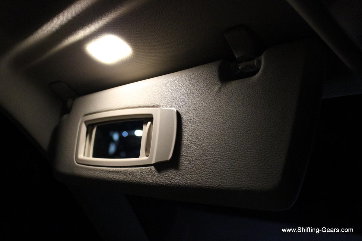 Vanity mirrors on the sun visors get automatic illumination