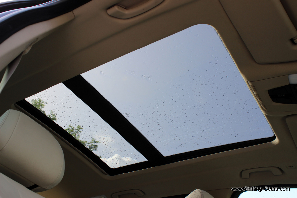 A look at the sunroof from inside