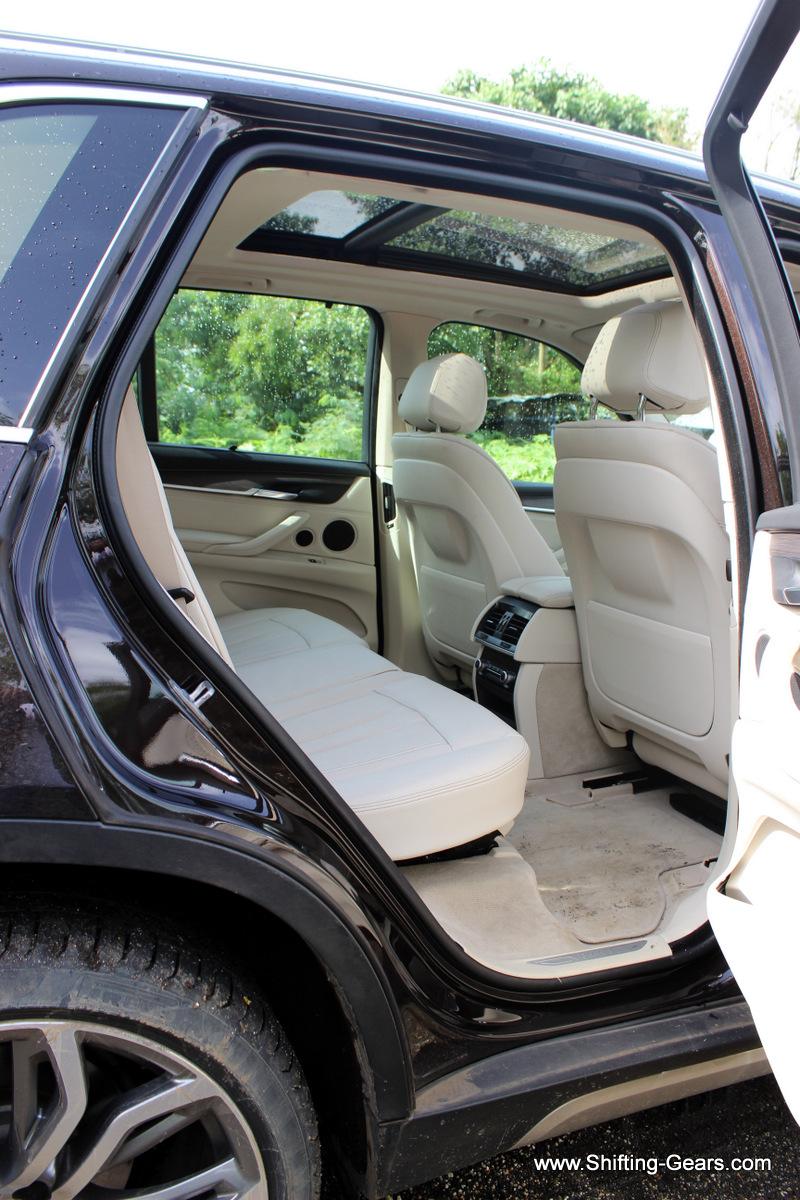 Rear door opens reasonably wide for easy ingress