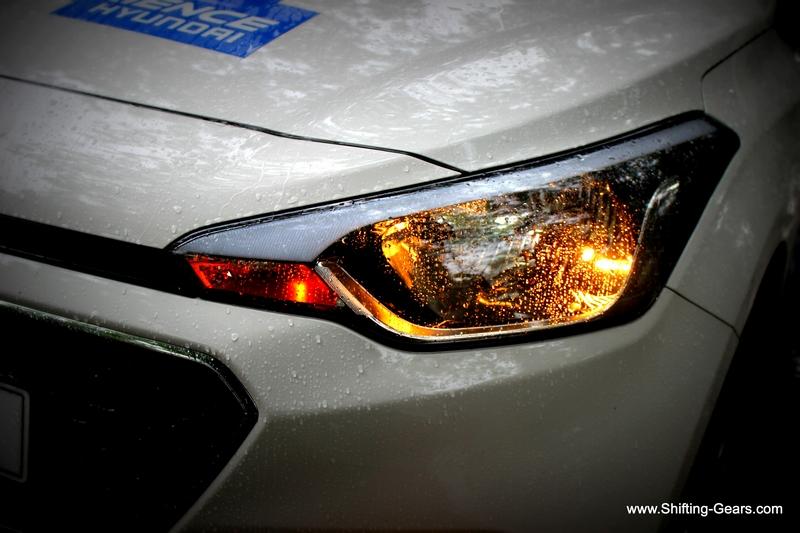 Close look at the headlamp
