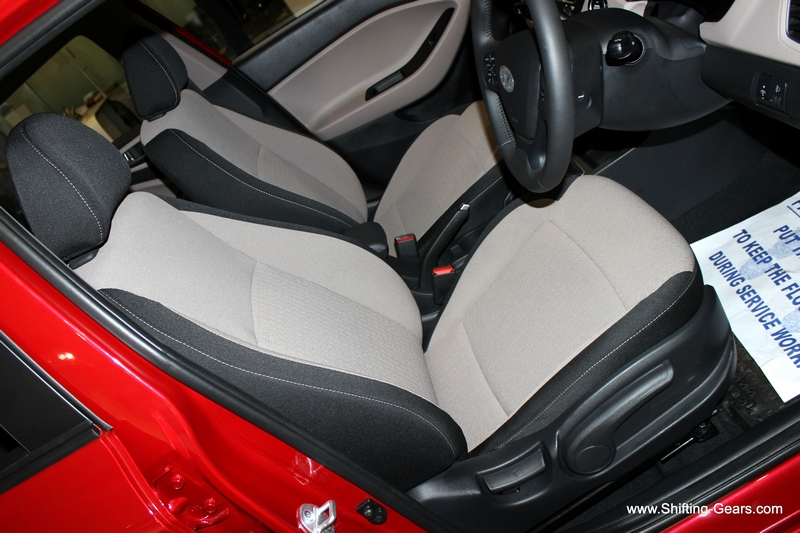 Front seats have a bucket like feel and provide good support all around. Black and beige combination however would be a pain to maintain in the long run.