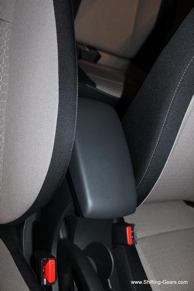 Driver gets a centre armrest, but a short one