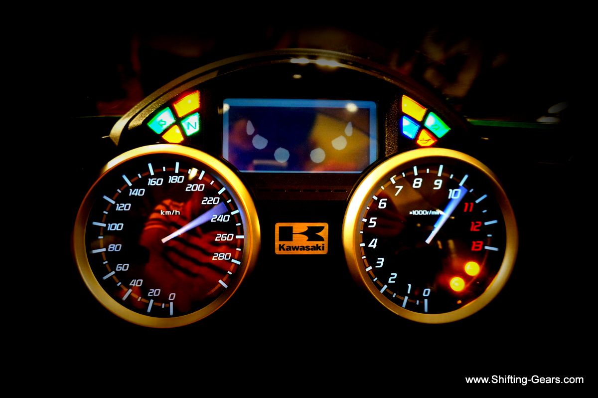 When you turn the ignition on, the instrument cluster performs a test run