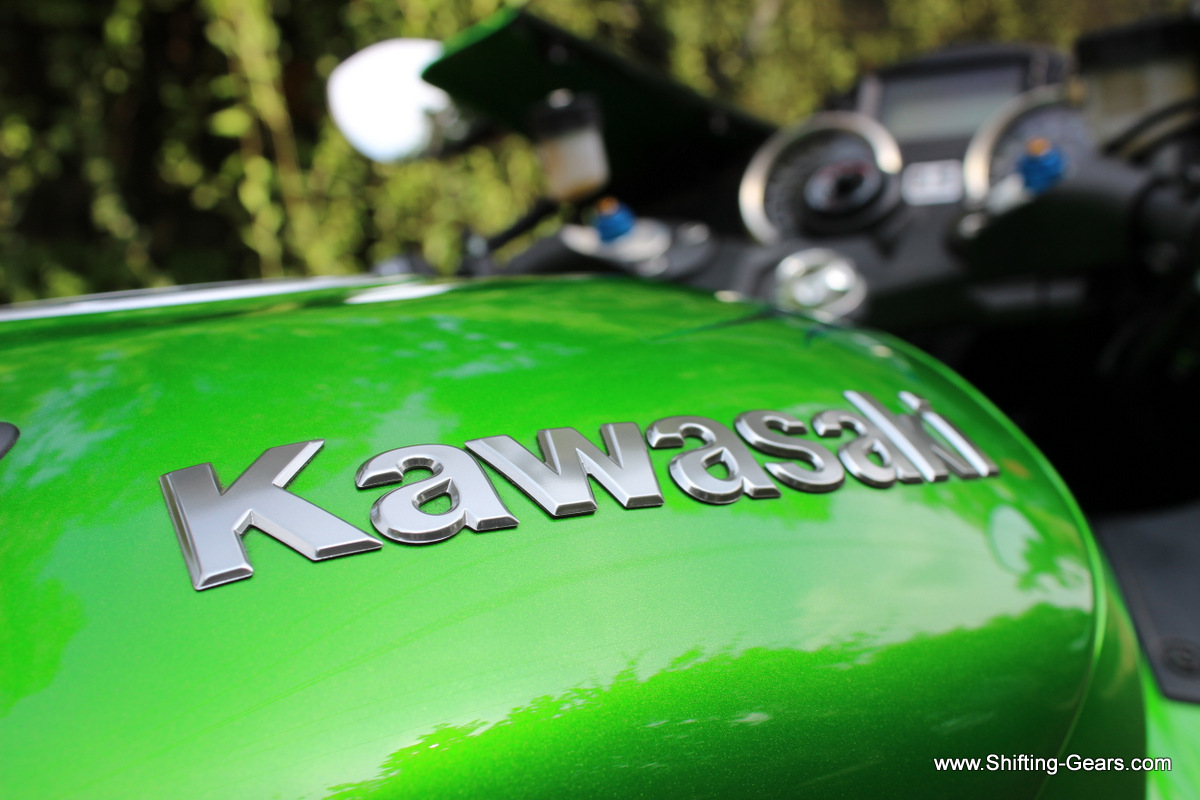 Kawasaki badge on the tank, will need thorough cleaning