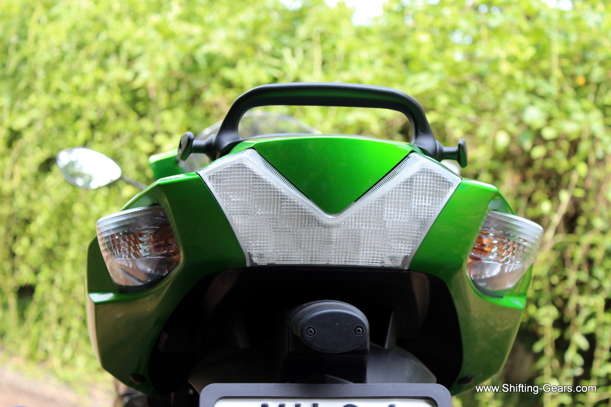 V shaped LED tail lamp unit was nothing extraordinary. Turn indicators are integrated in the rear body panel.