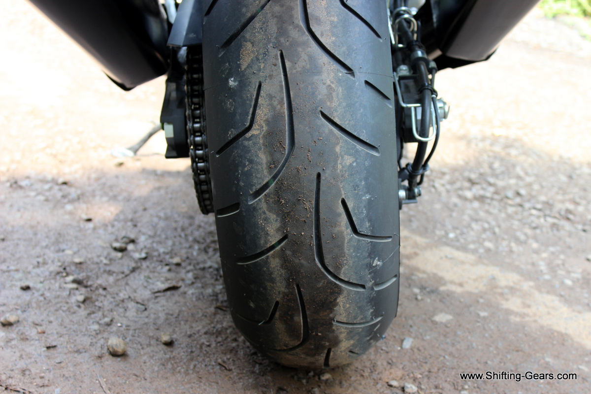 190 section Bridgestone Battlax rear tyre