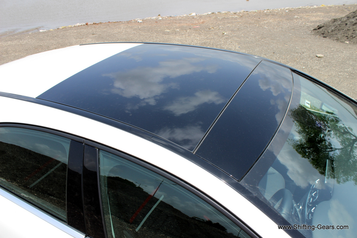 Close look at the panoramic sunroof