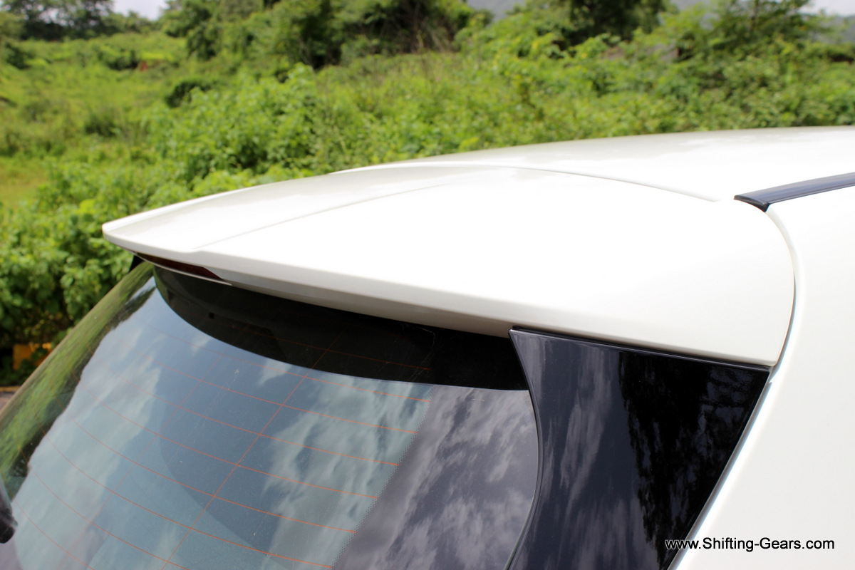 Part of the roofline also poses as a spoiler. It has a built-in radio antenna.