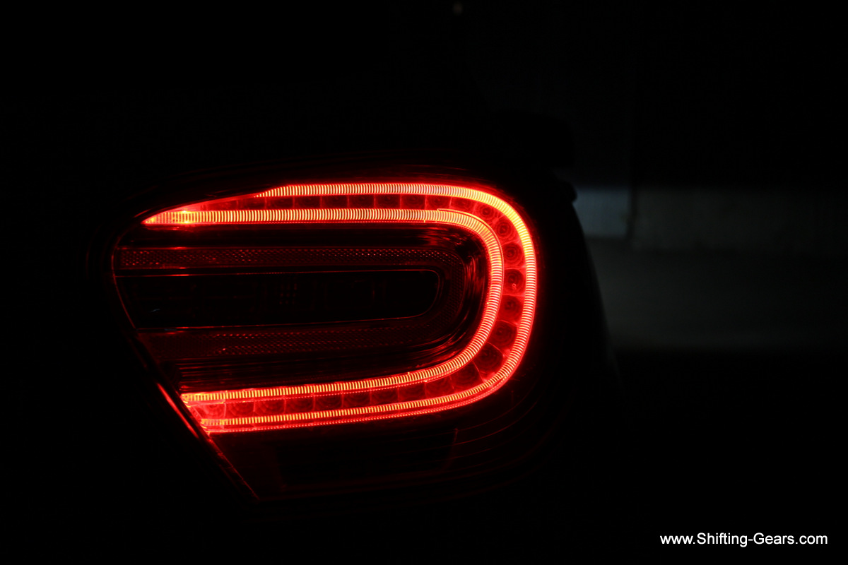 LED tail lamps, night view