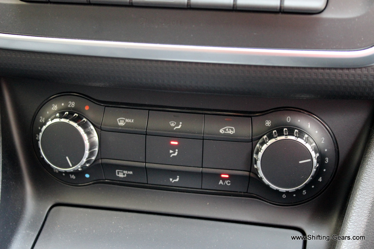 The Edition 1 does not get automatic climate control. These manual controls felt good when used.