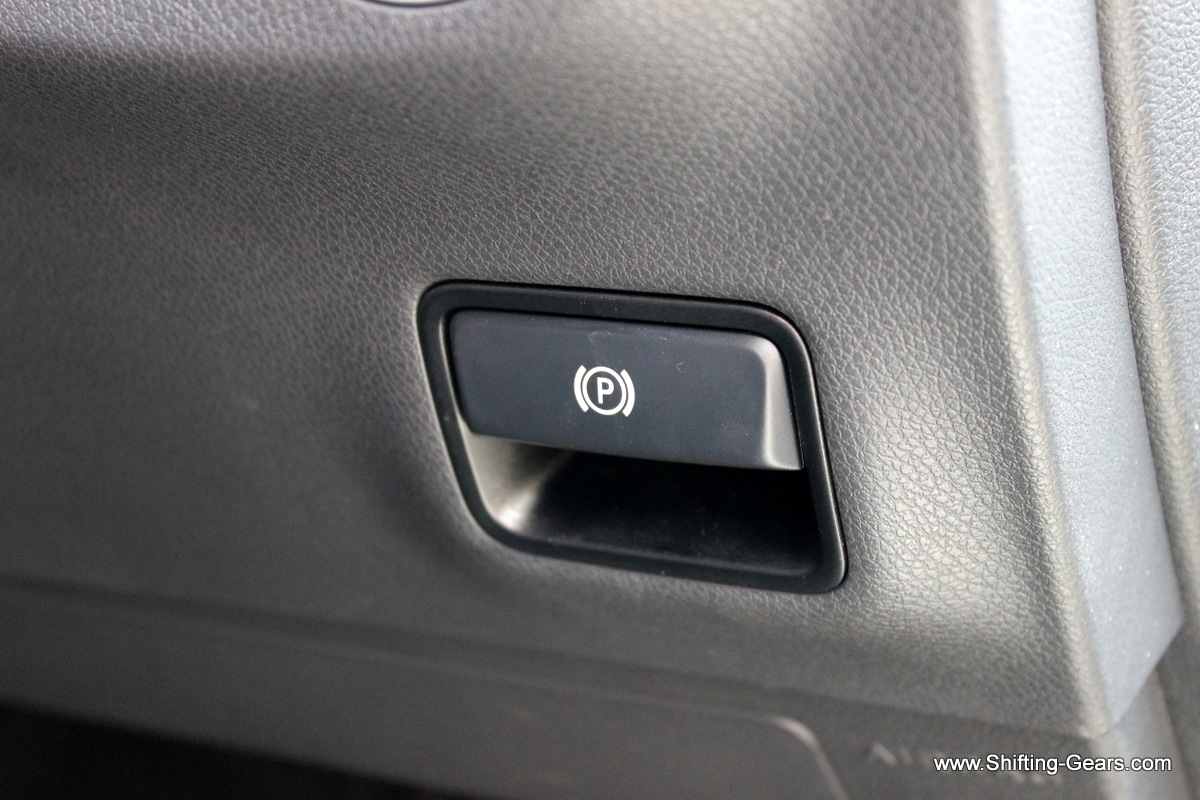 Electric parking brake button placed below the euro light switches