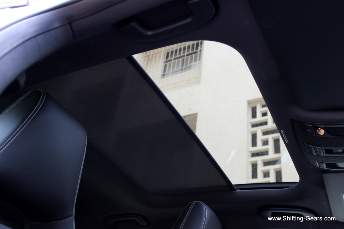 Inside view of the sunroof