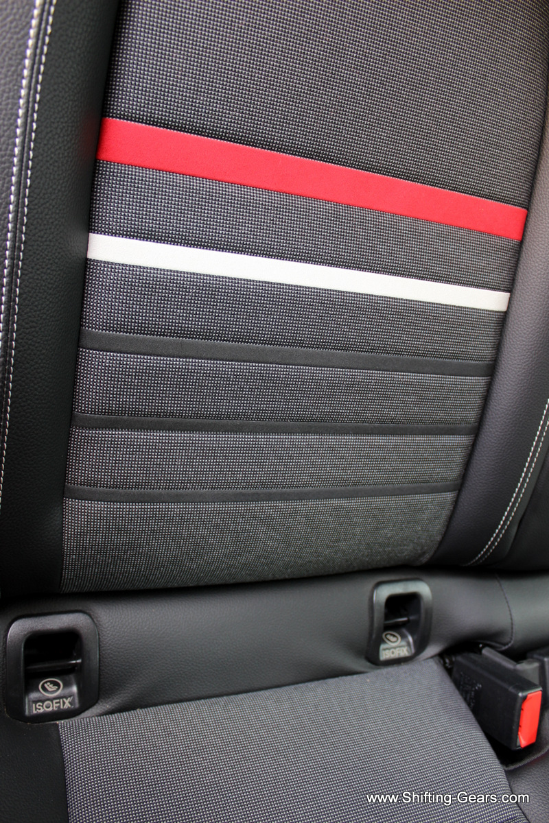 Close look at the seat texture