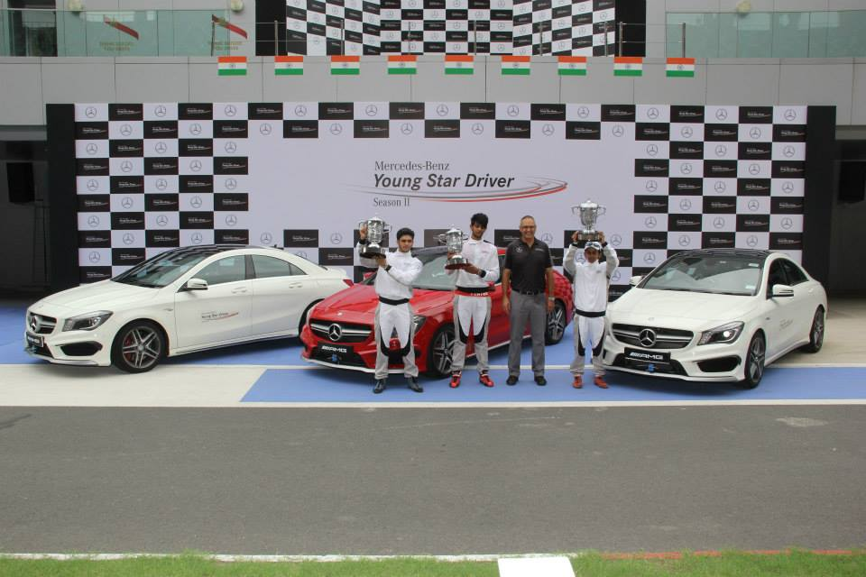 Drivers who finished on the podium with Eberhard Kern, Managing Director & CEO, Mercedes-Benz India