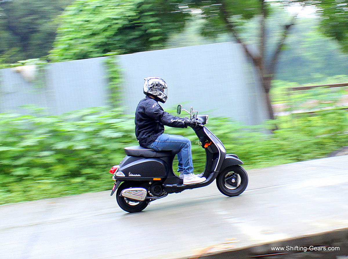 The Vespa S is powered by the same 125cc engine, but gets some cosmetic changes