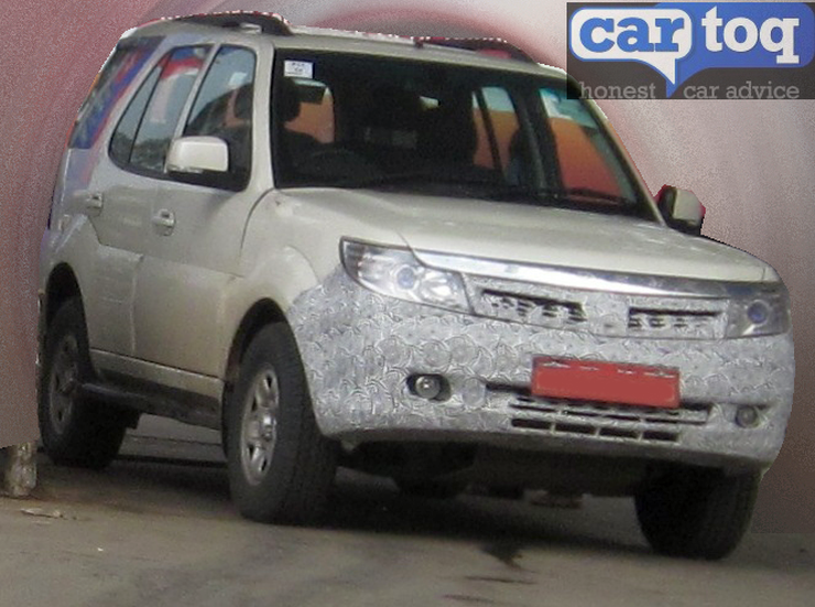 Tata Safari Storme facelift spotted
