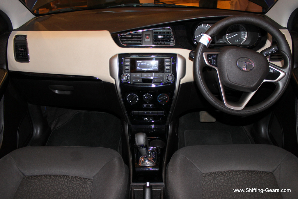 Interiors are a big step up compared to all Tata cars till date