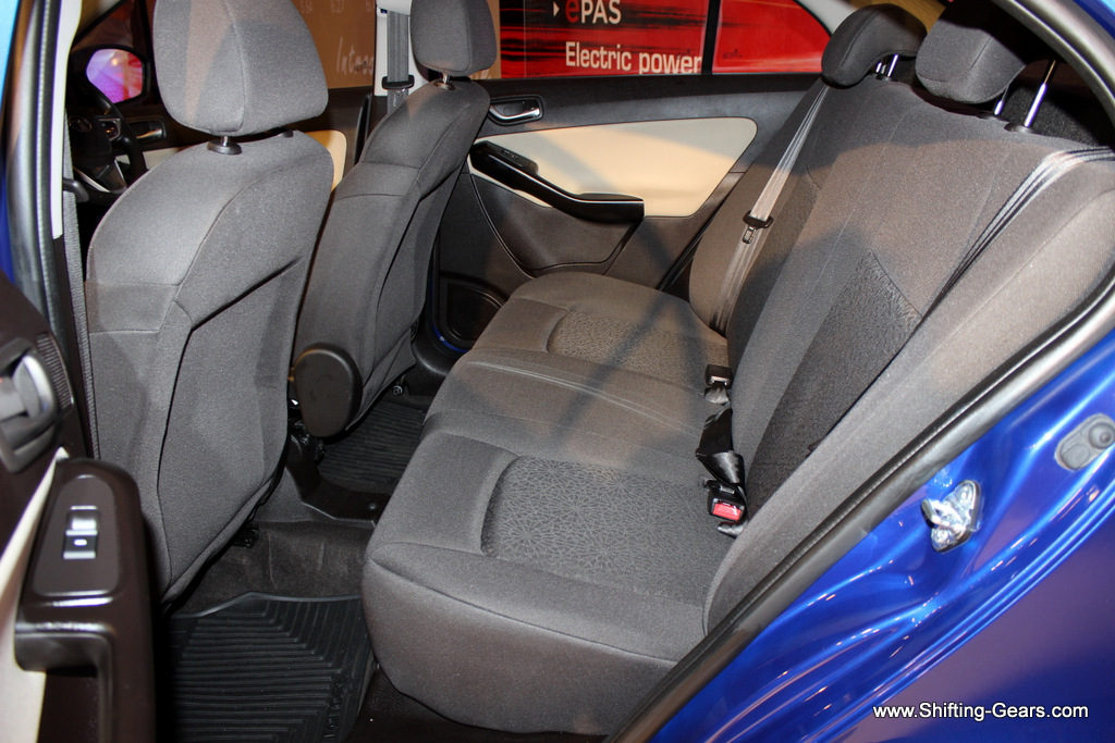 Best in class rear seat space offered by the Tata Zest