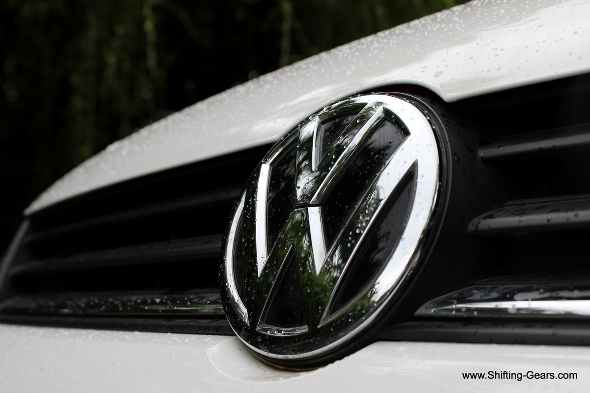 Big VW badge on the front grille