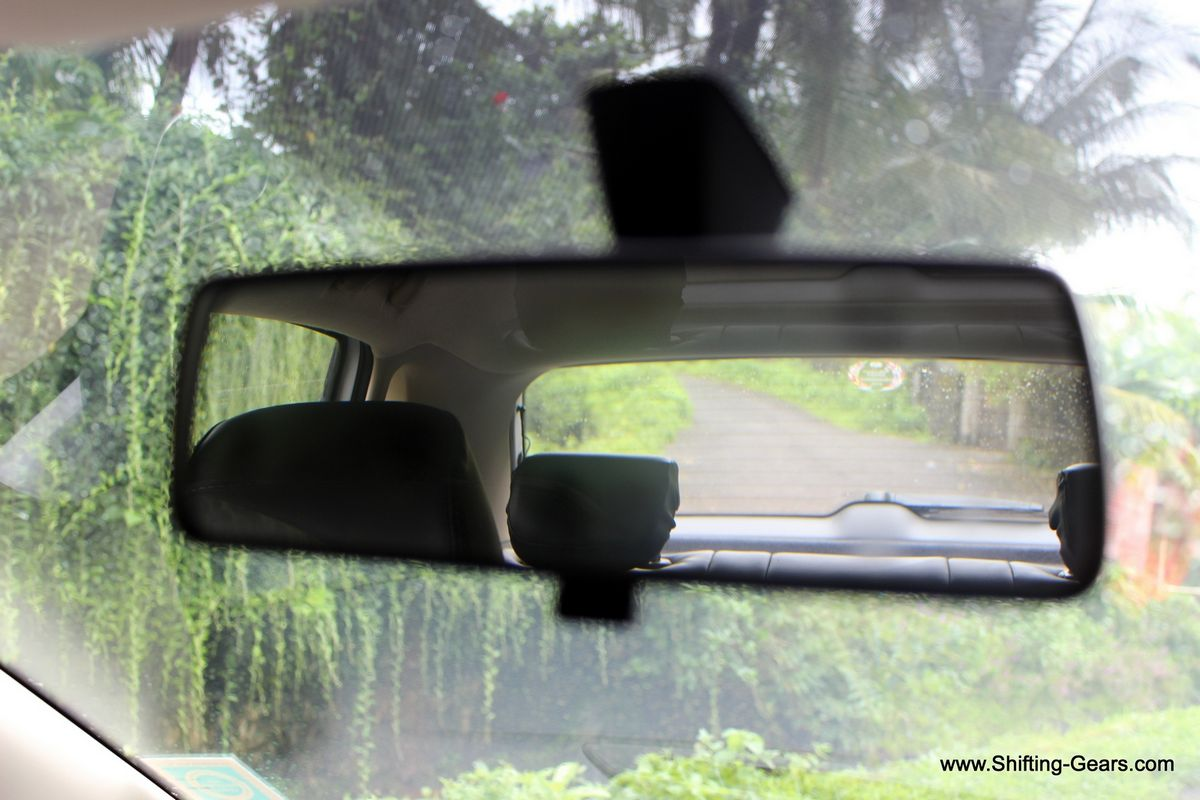 Rear view mirror has day and night function