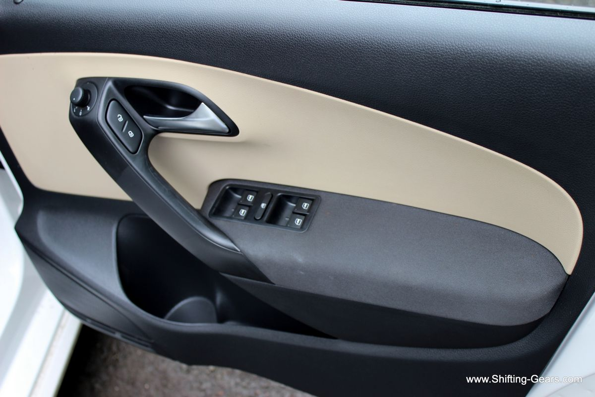 Controls on the driver door