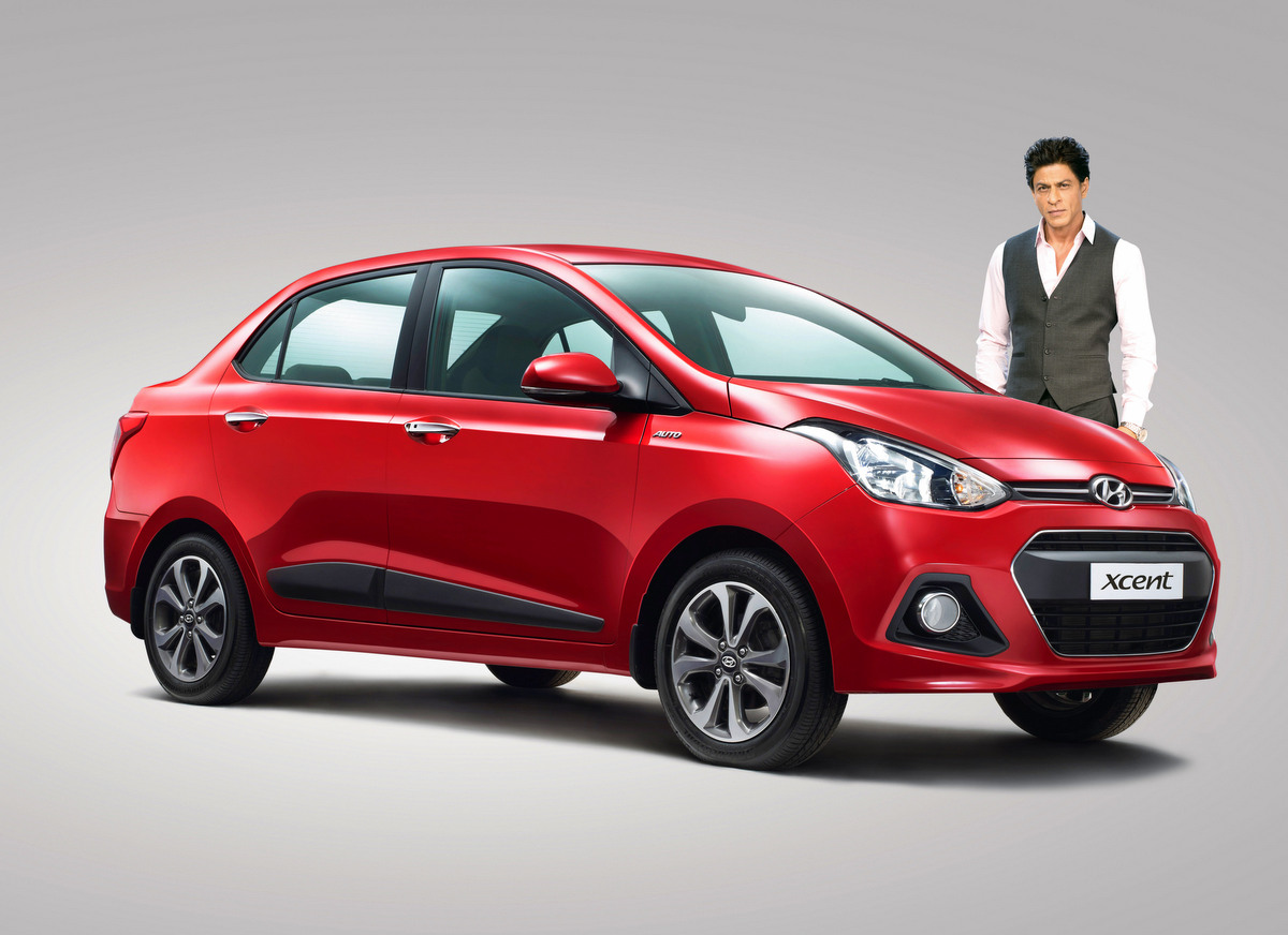 Shahrukh Khan as brand ambassador for Hyundai Xcent