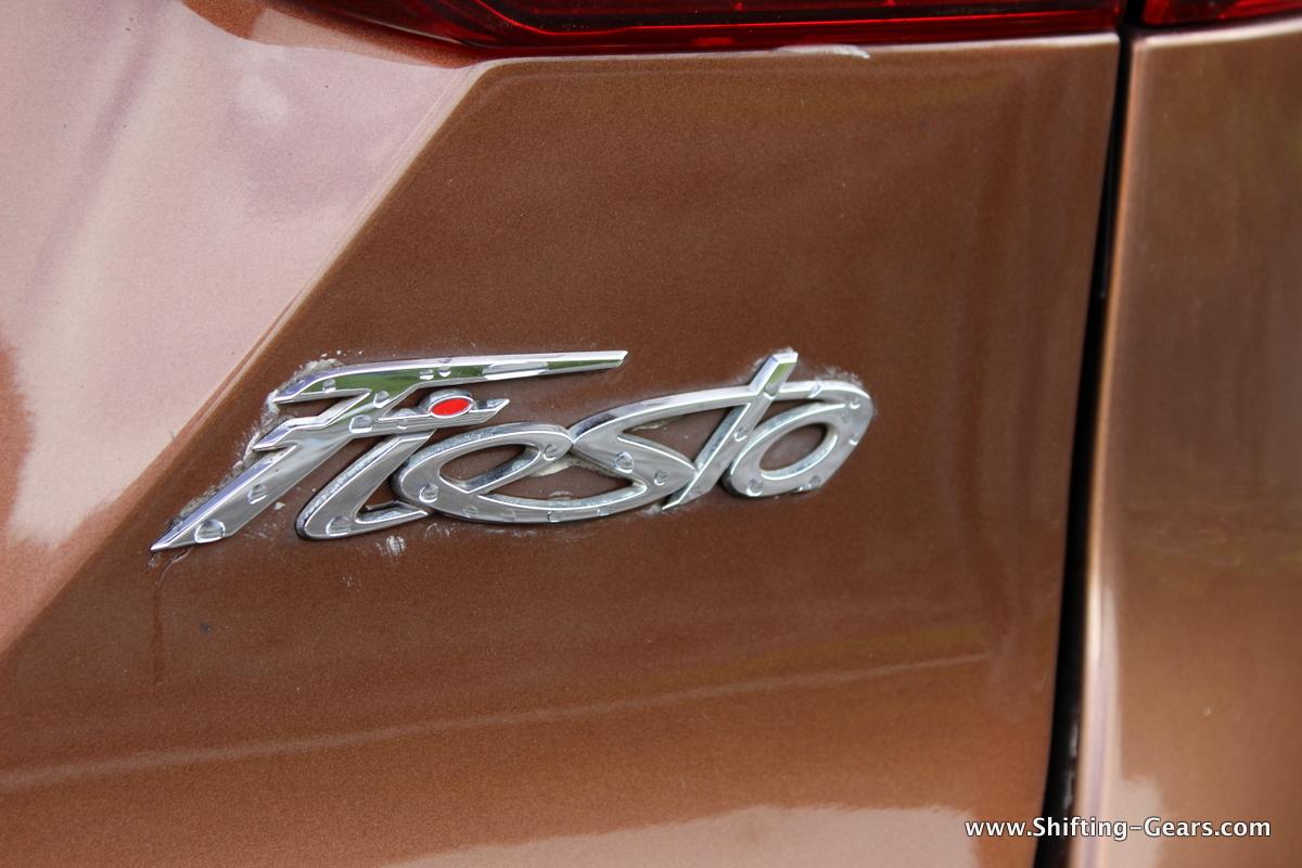 Fiesta badge under the RHS tail lamp